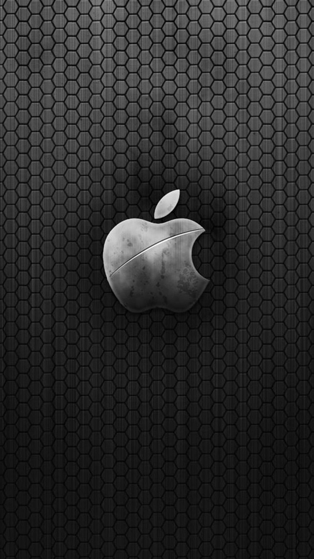 Metallic Apple Logo Wallpaper Iphone Wallpaper