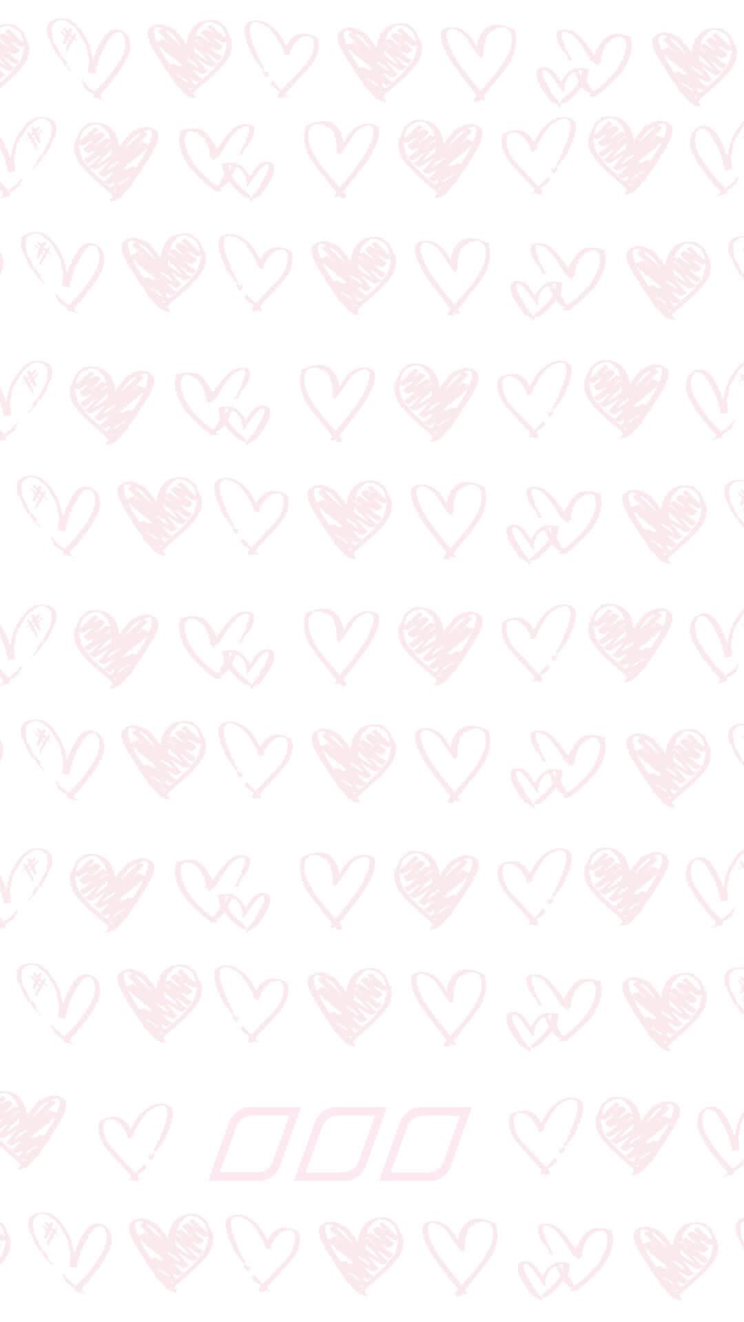 Pastel pink heart pattern