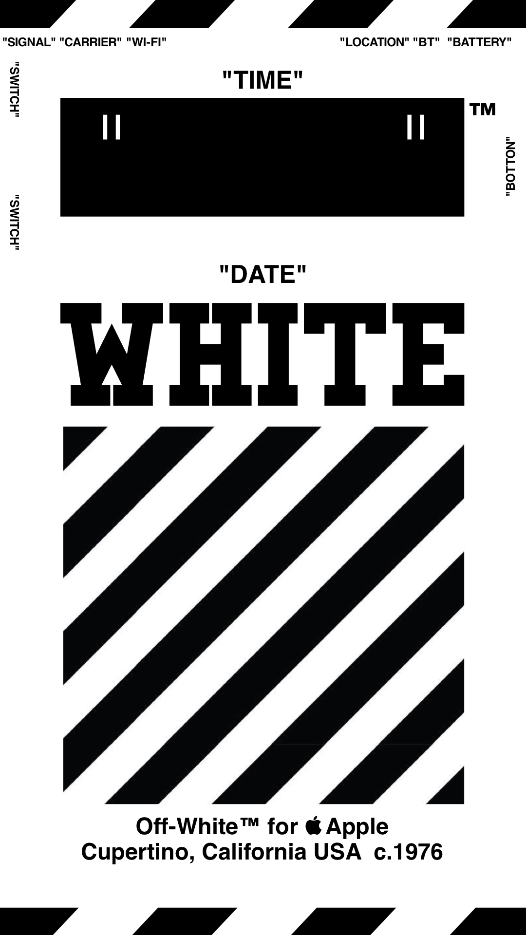 Off White Iphone Wallpaper