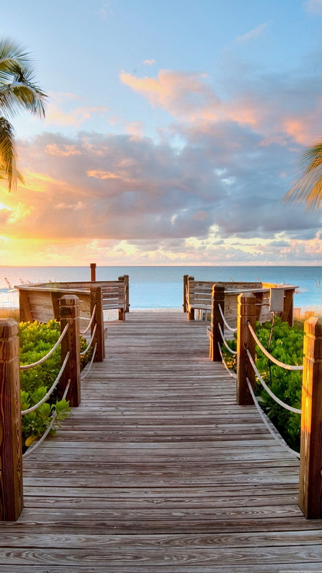 Wooden Way To A Beach