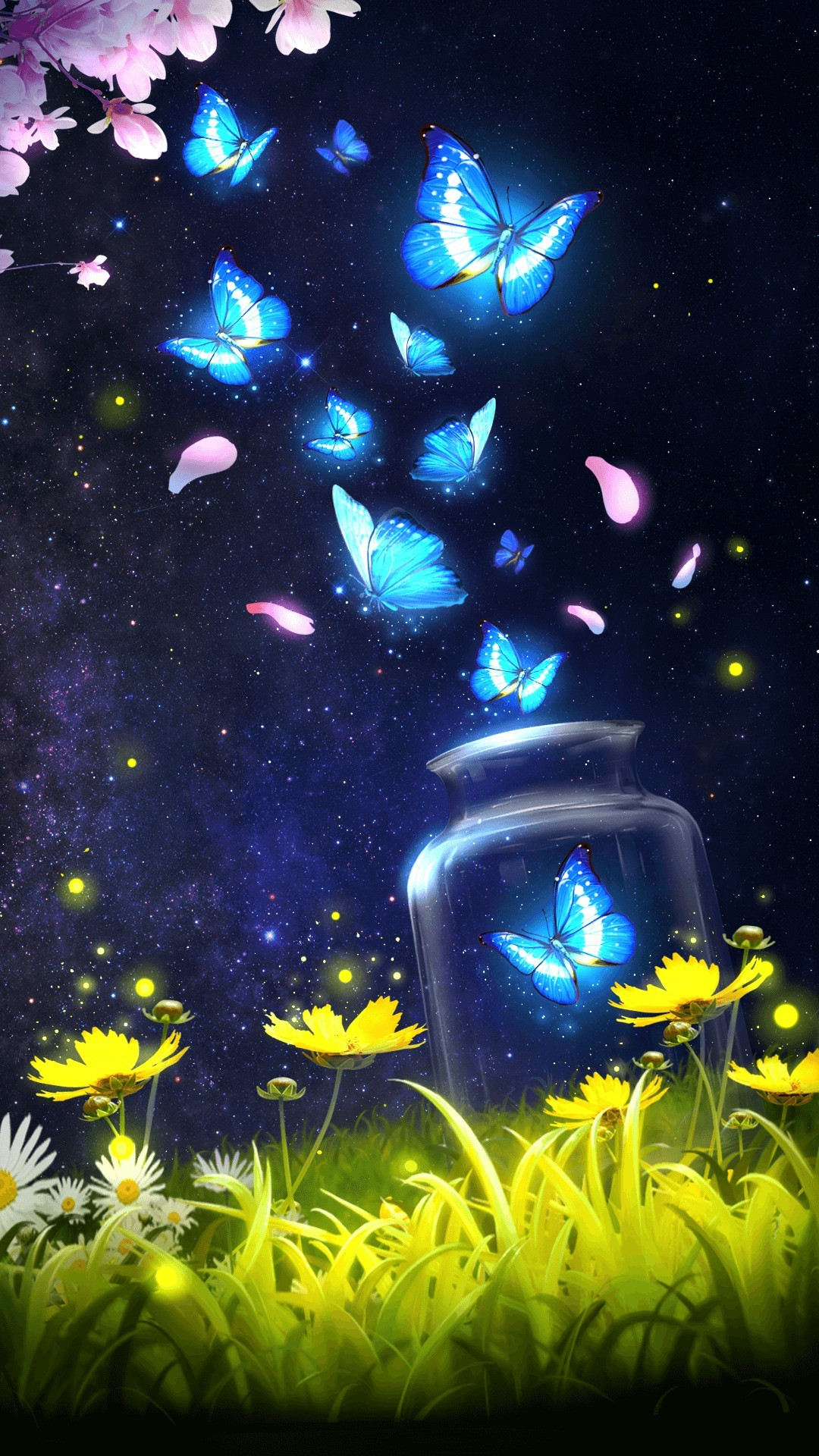 Blue Butterfly Iphone Wallpapers