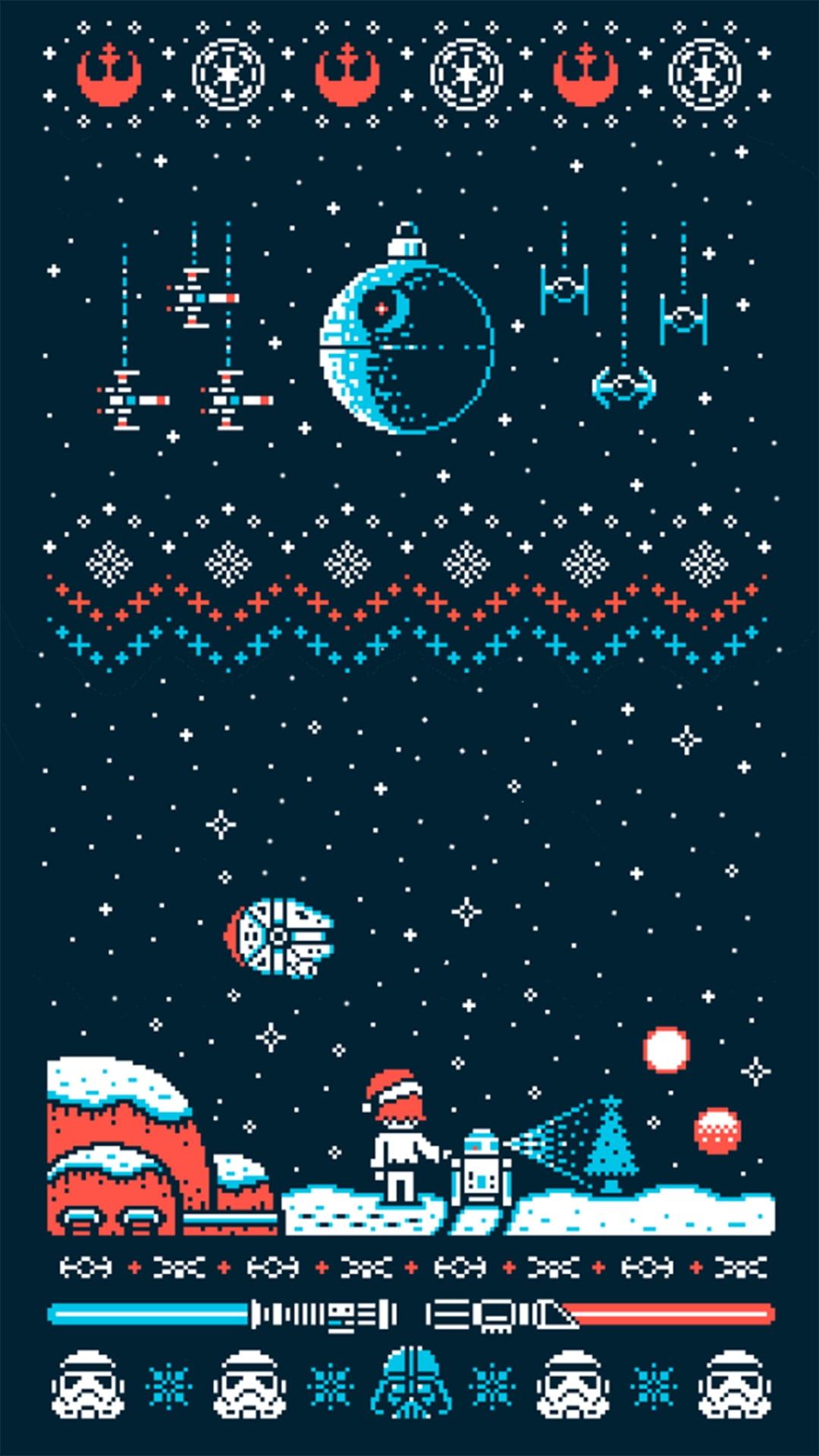 Star Wars   Christmas Ver   21bit   iPhone Wallpapers