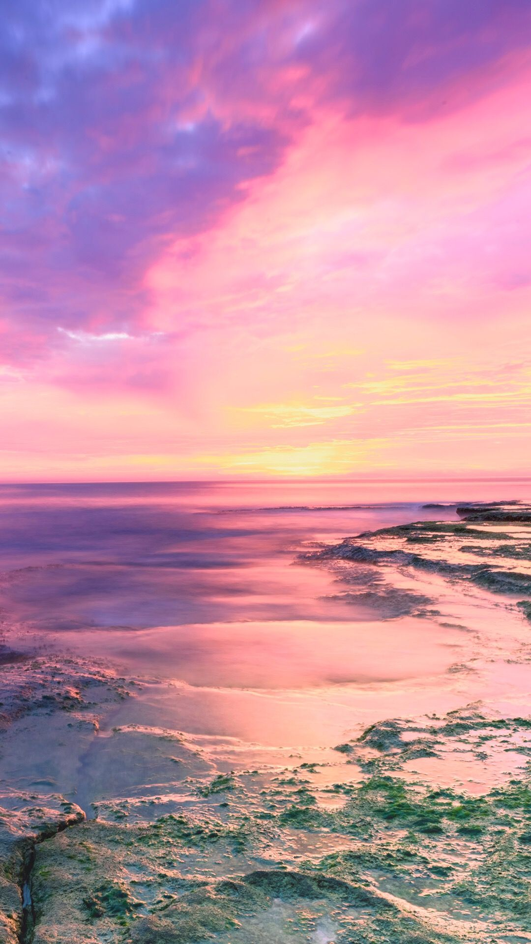 Pink Beach Cute Photos Iphone Wallpaper