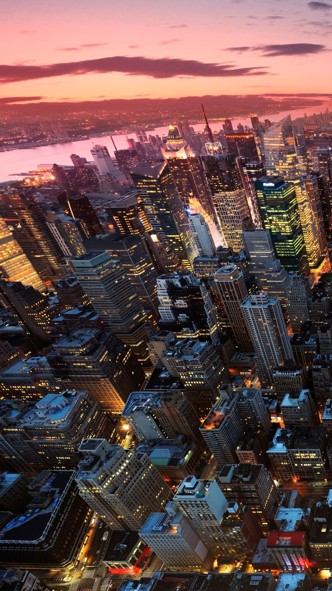 The Night View Of New York City Iphone Wallpapers