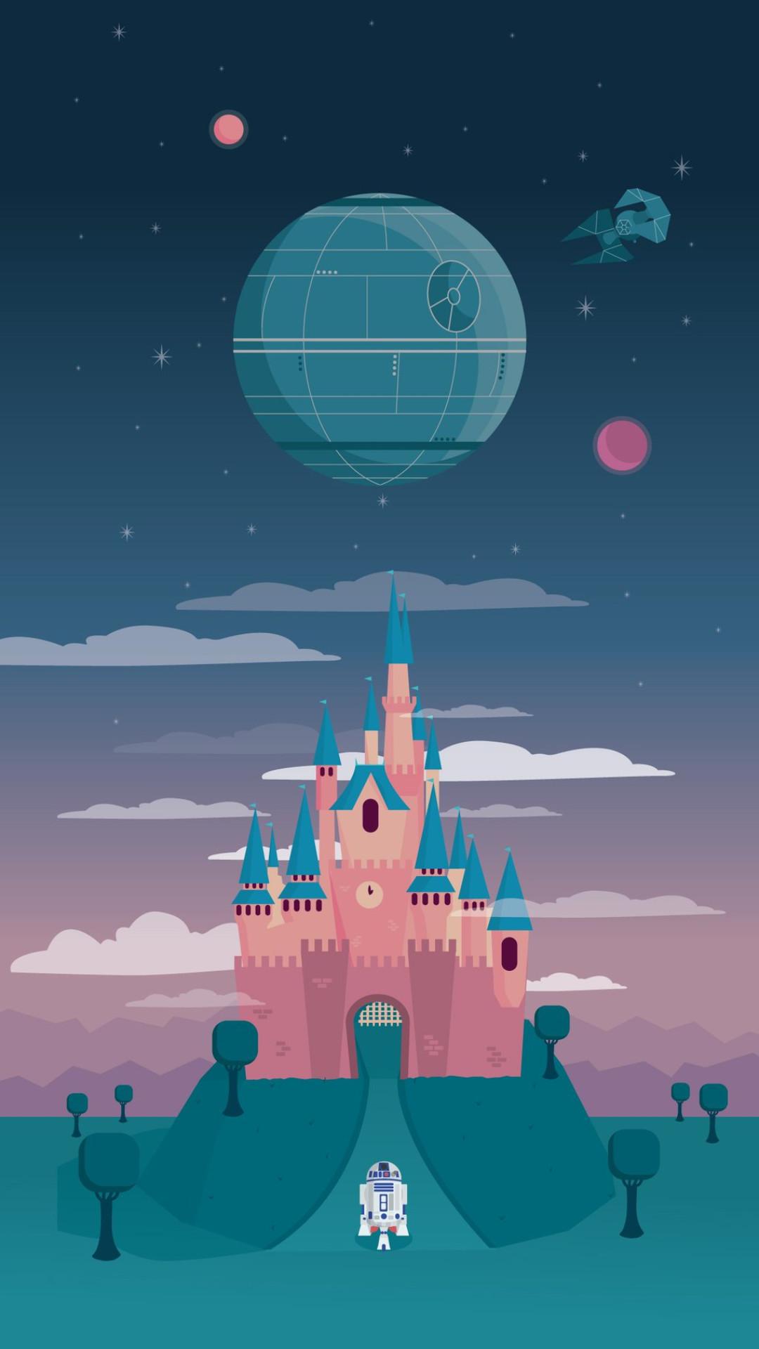 Cinderella Castle Star Wars Ver Iphone Wallpaper