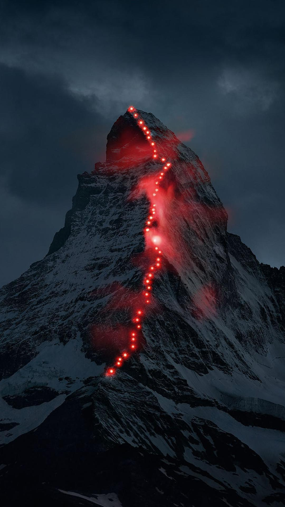 Volcano Mountains Art Iphone Wallpaper