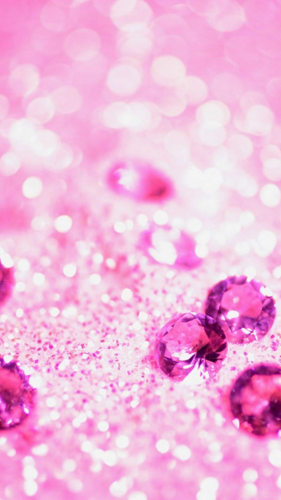 Lots Of Pink Jewelry Girly Glitter Iphone Wallpapers Iphone