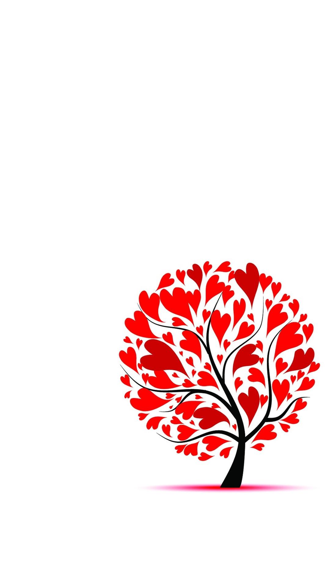 ハートの木 おしゃれなハートのiphone壁紙 Iphone Wallpapers