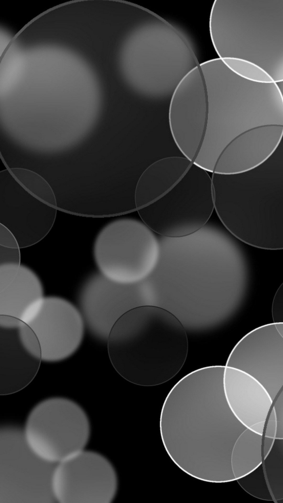 Black And White Bokeh Lights IPhone Wallpaper