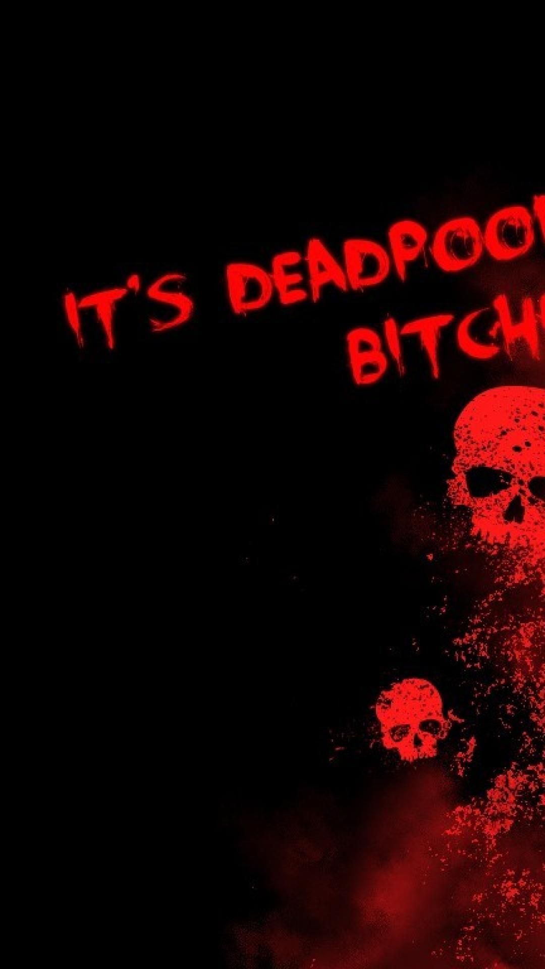 Black background deadpool wallpaper