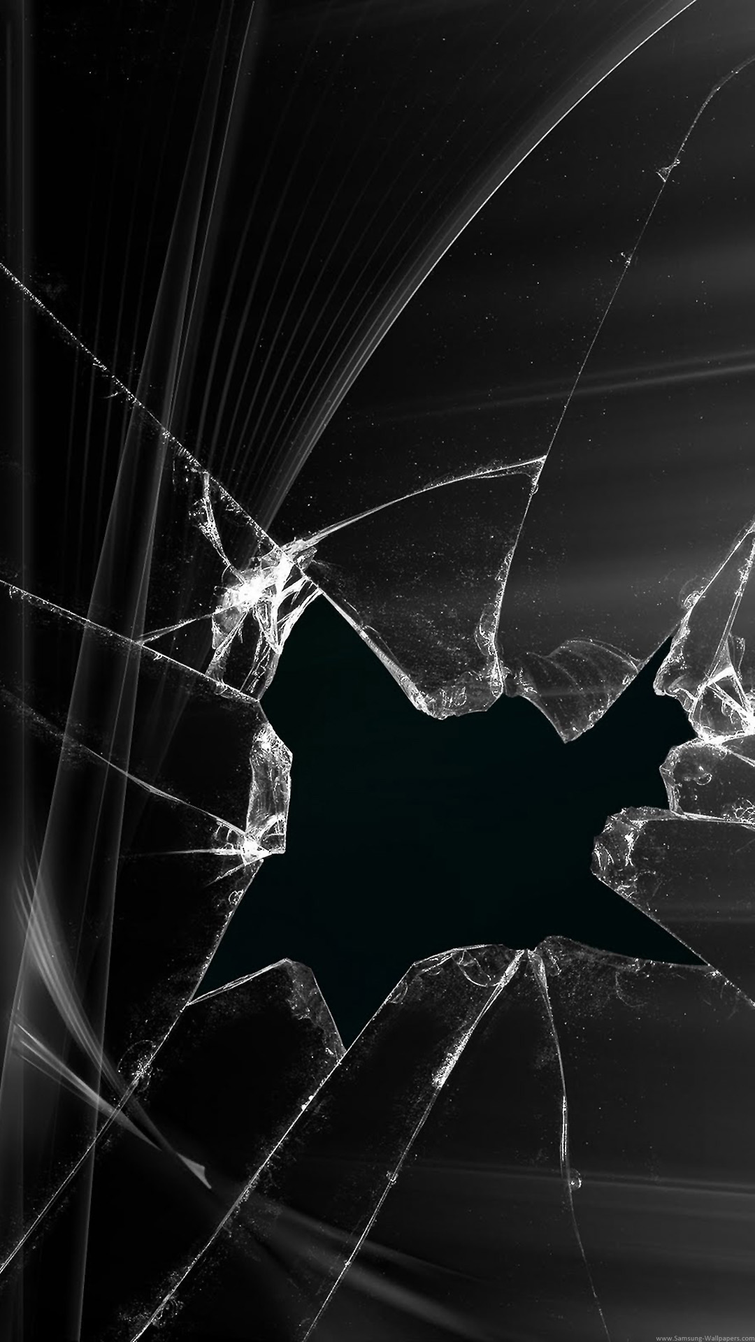 Broken Screen Wallpaper Black Iphone Wallpaper