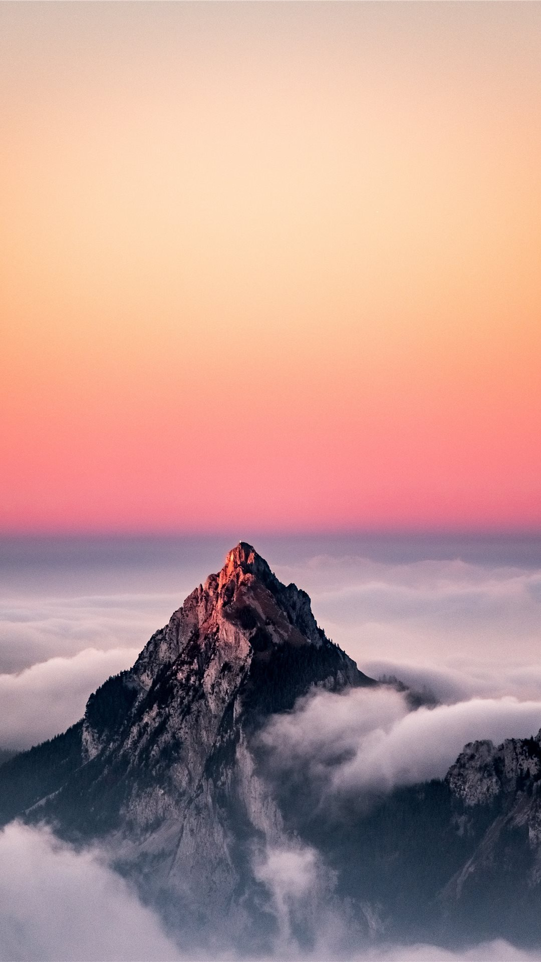 Beautiful Mountain Sunset Sky Iphone Wallpaper