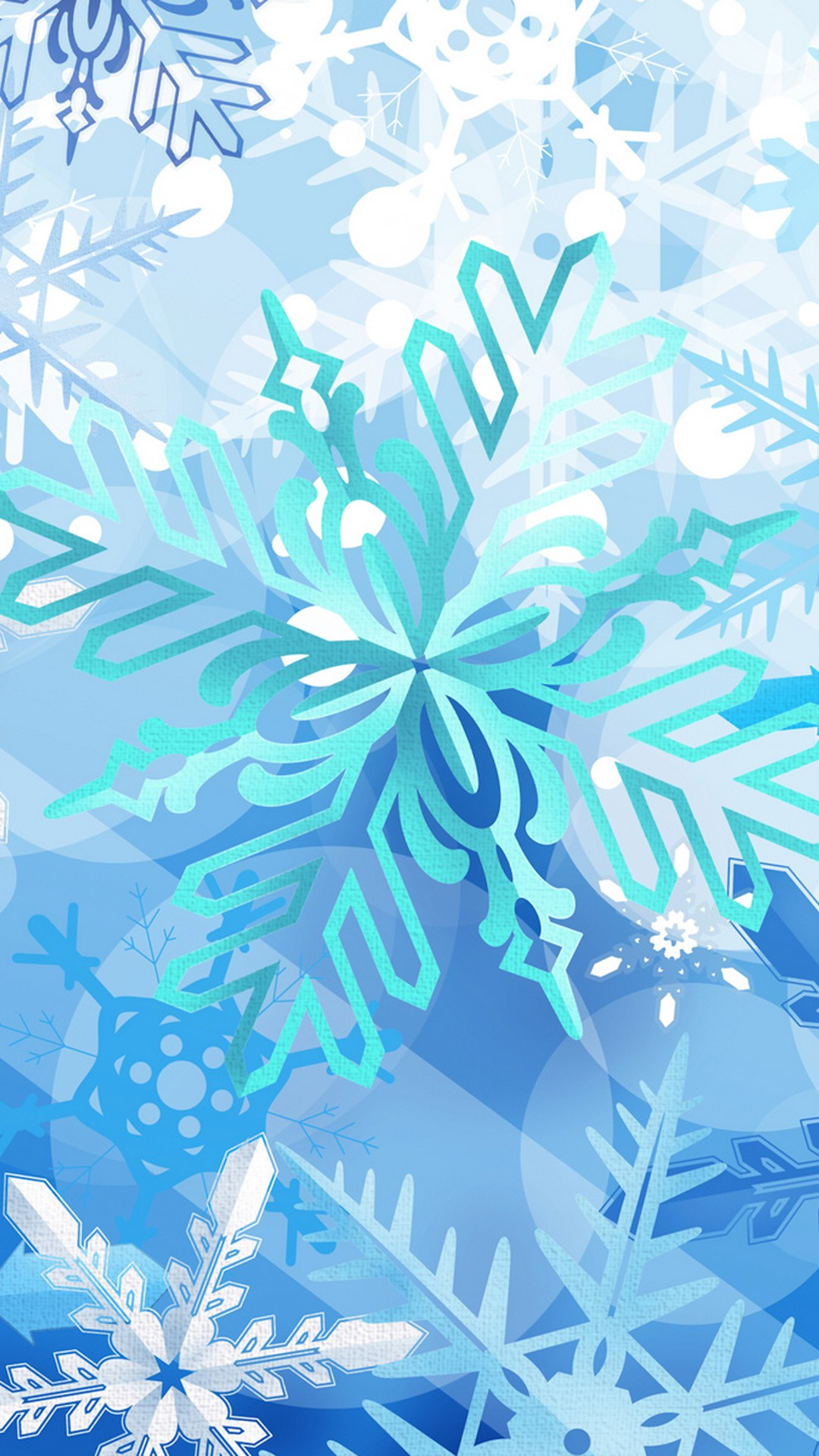 Snow Crystal Iphone Wallpaper