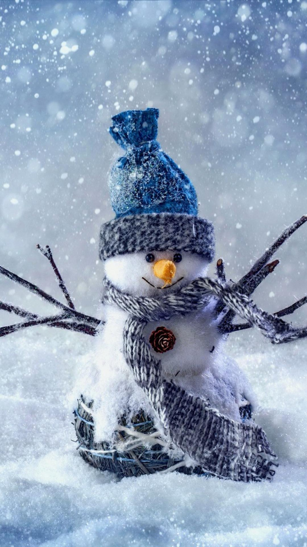 Snowman Cute Winter Iphonex Wallpaper Iphone Wallpaper