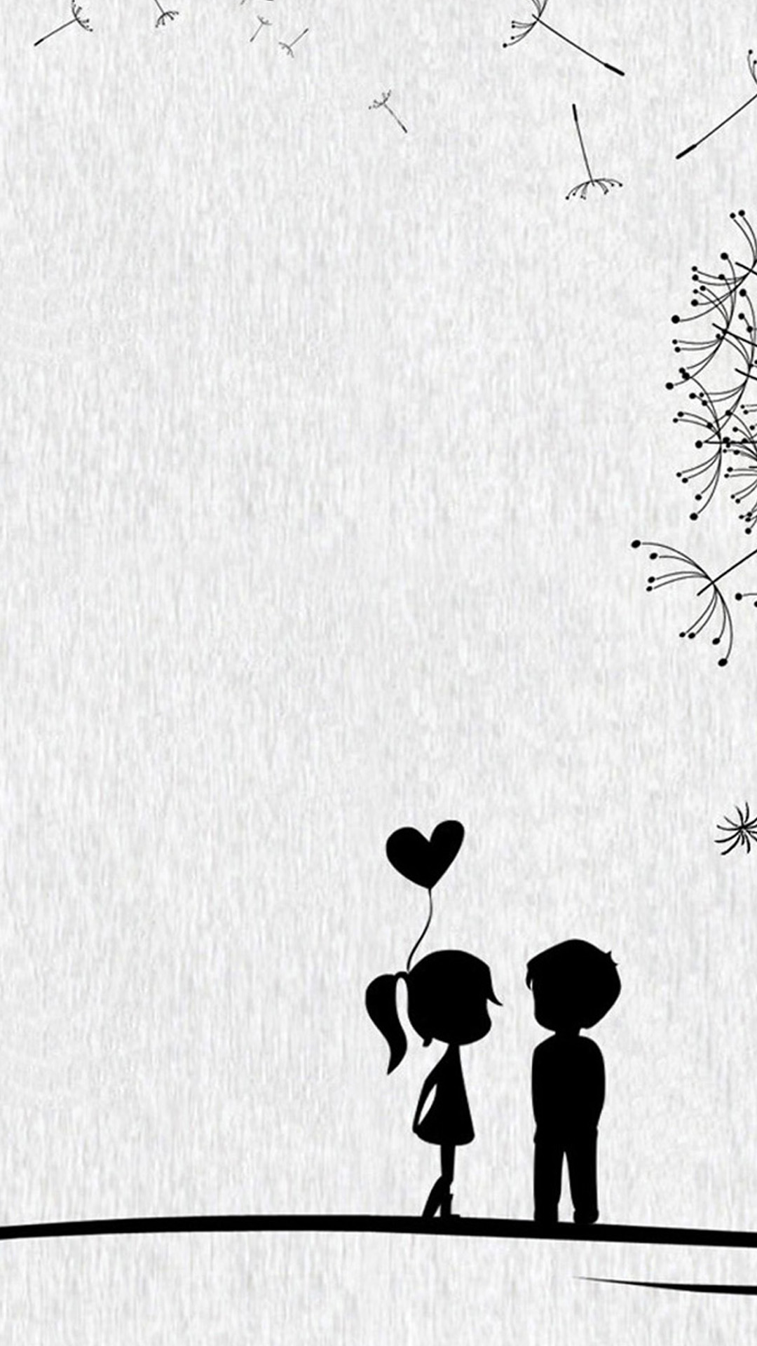 Cute Couples Black And White Illustrations