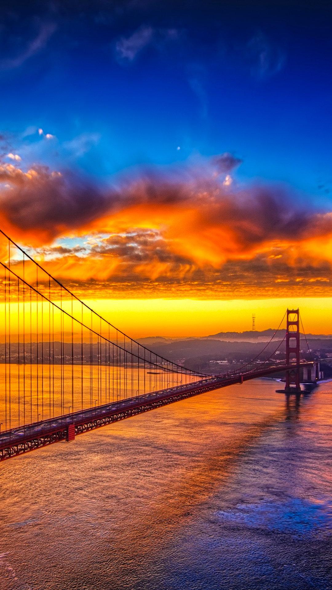 Golden Gate Bridge At Sunset Iphone Wallpaper
