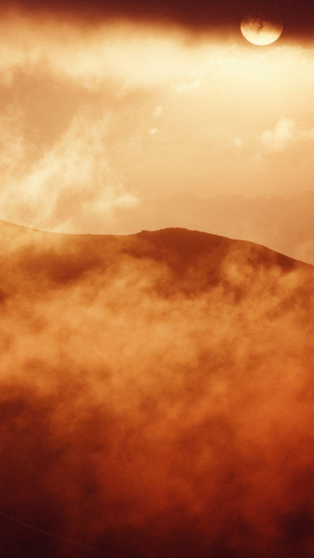 Desert Sand Storm Iphone Wallpaper
