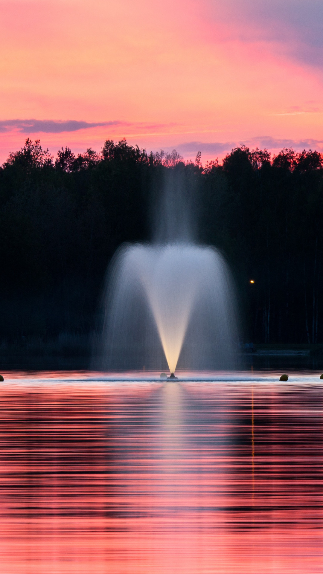 Fountain Beautiful Landscape Iphonex Wallpaper Iphone