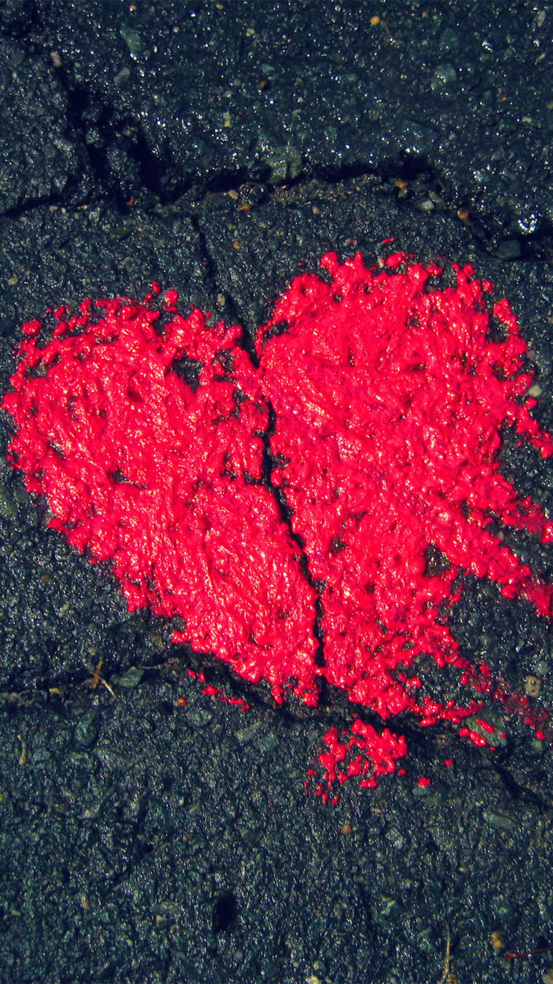 Heart On Asphalt Iphone Wallpaper