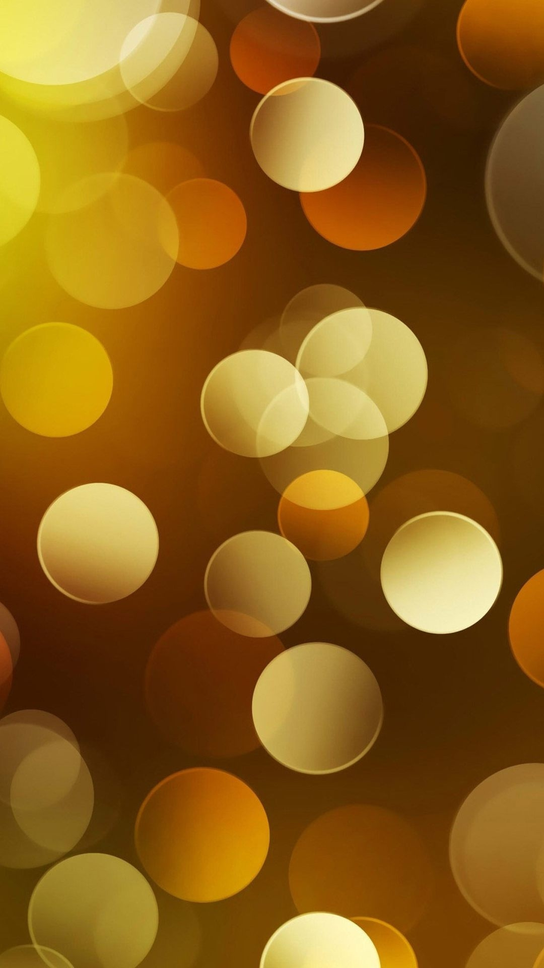 Gold Circle Pattern Iphone Wallpaper