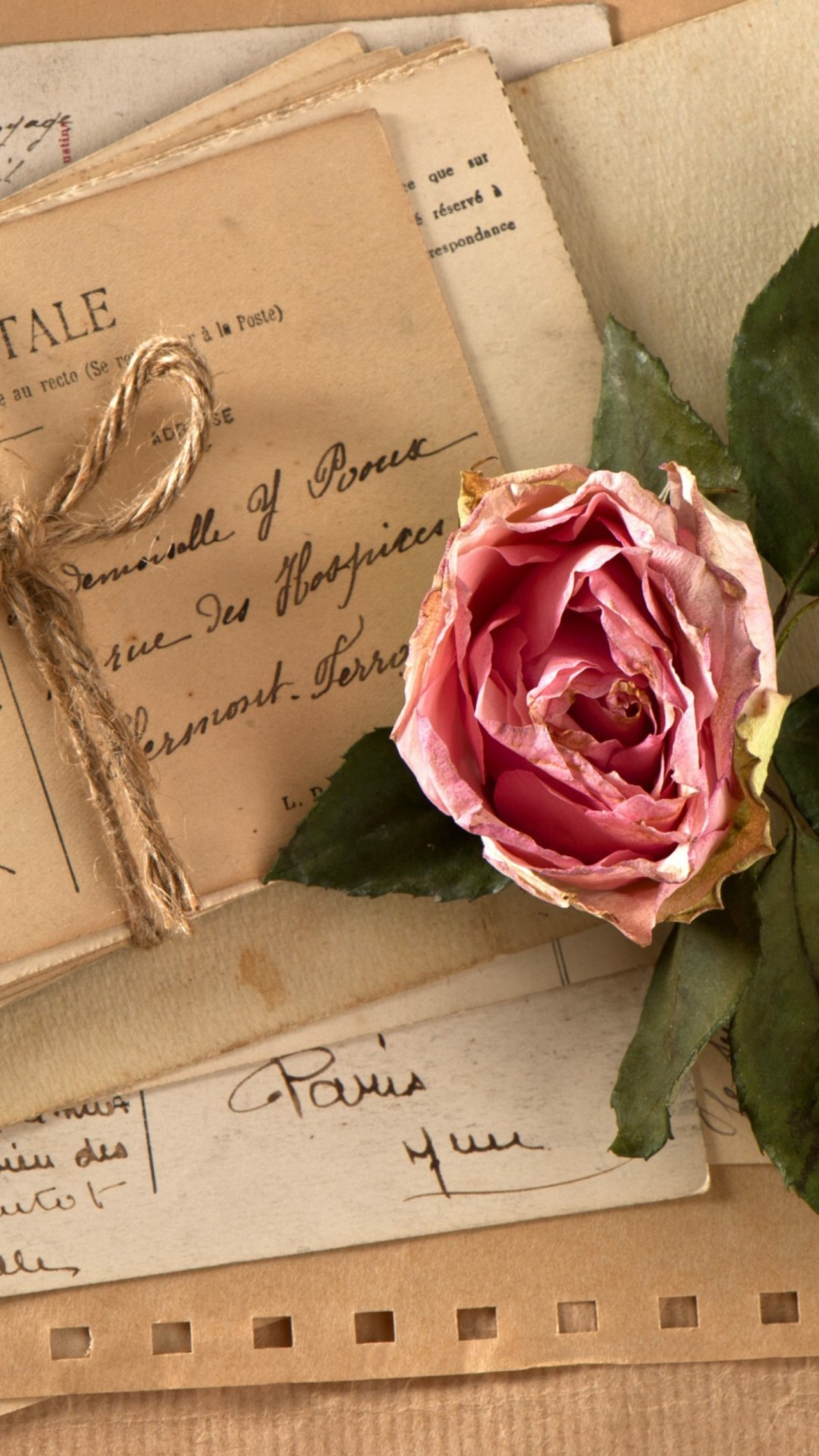 Rose And Letters