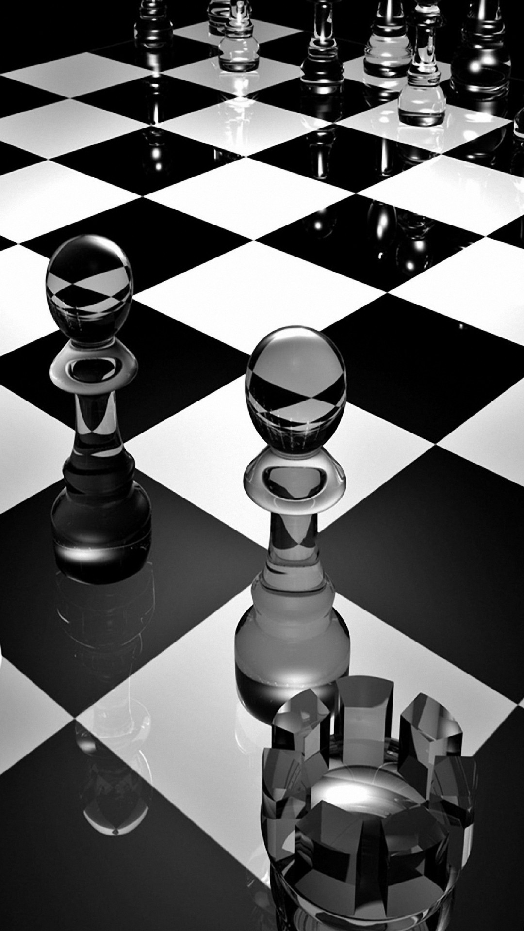 3d Glass Chess Iphone Wallpapers Iphone Wallpapers