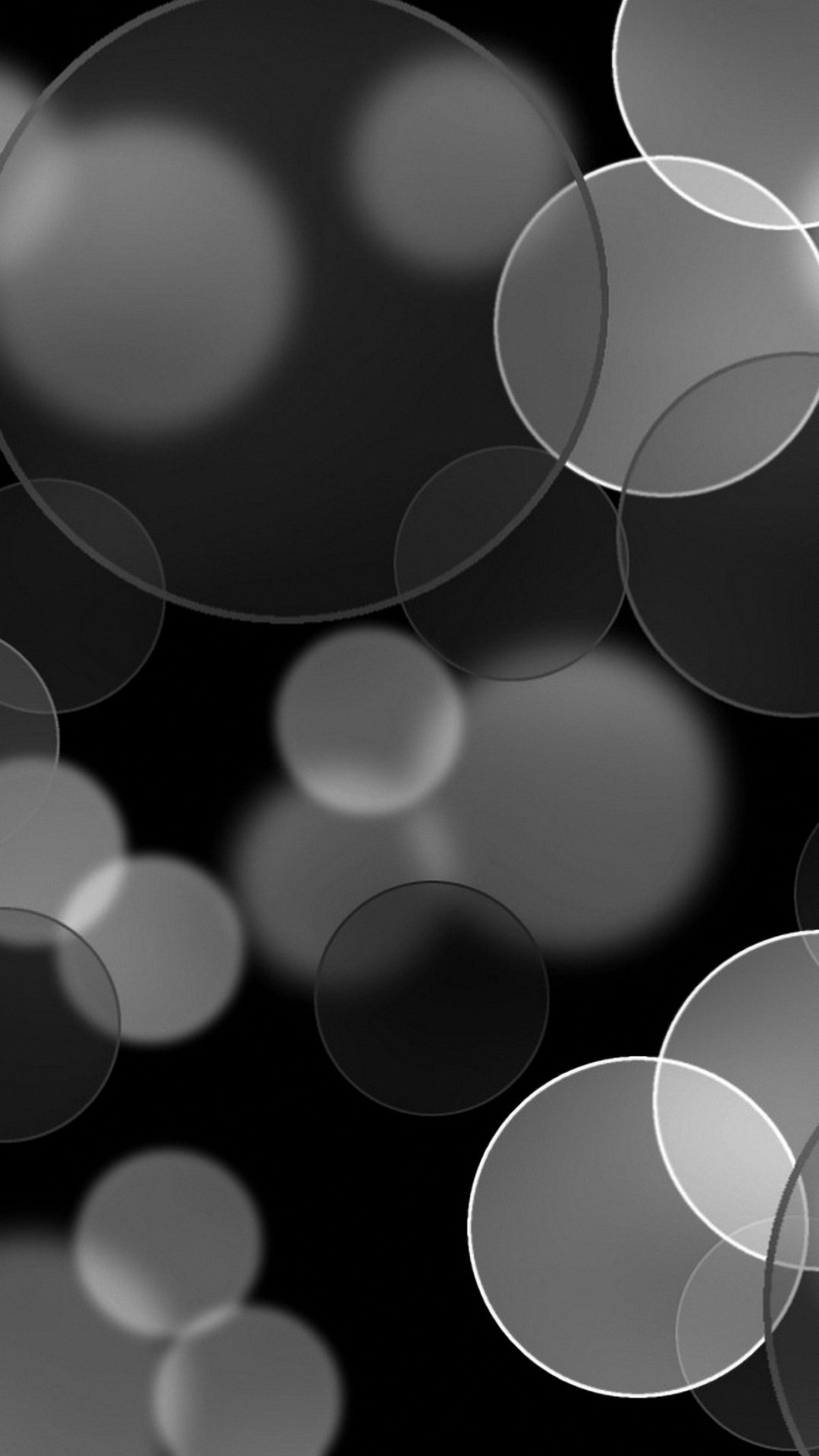 Grey Abstract Circles Iphone 6s Wallpaper Iphone Wallpaper