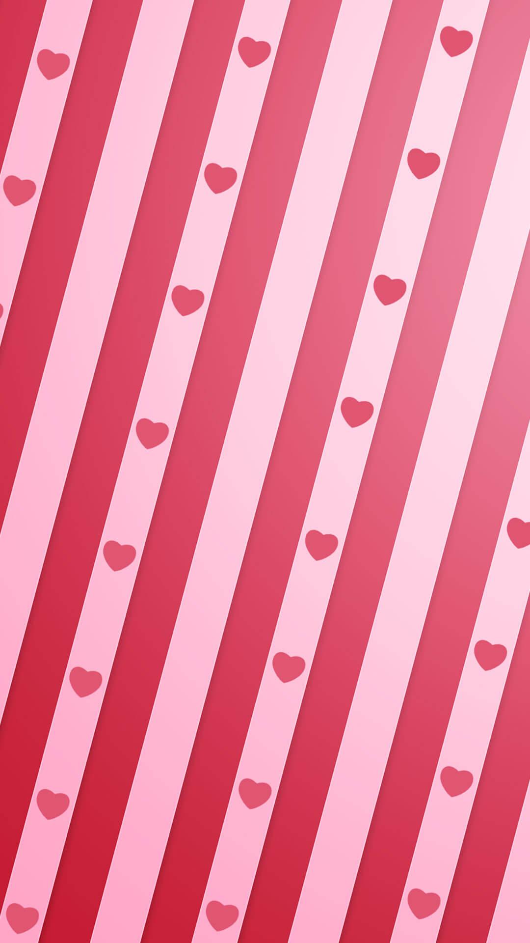 Heart Stripe Iphone Wallpaper