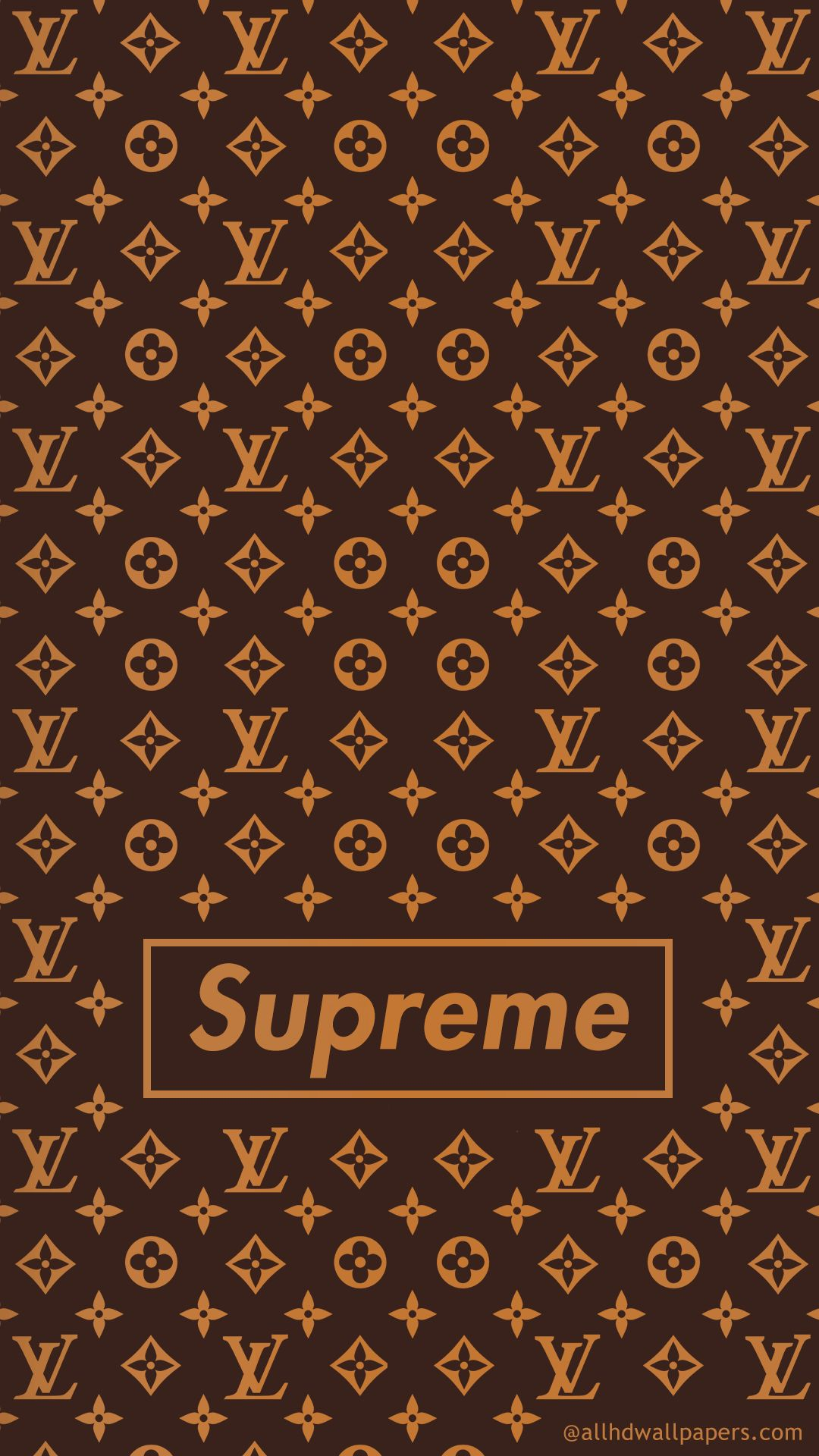 Supreme X Louis Vuitton Iphone Wallpaper