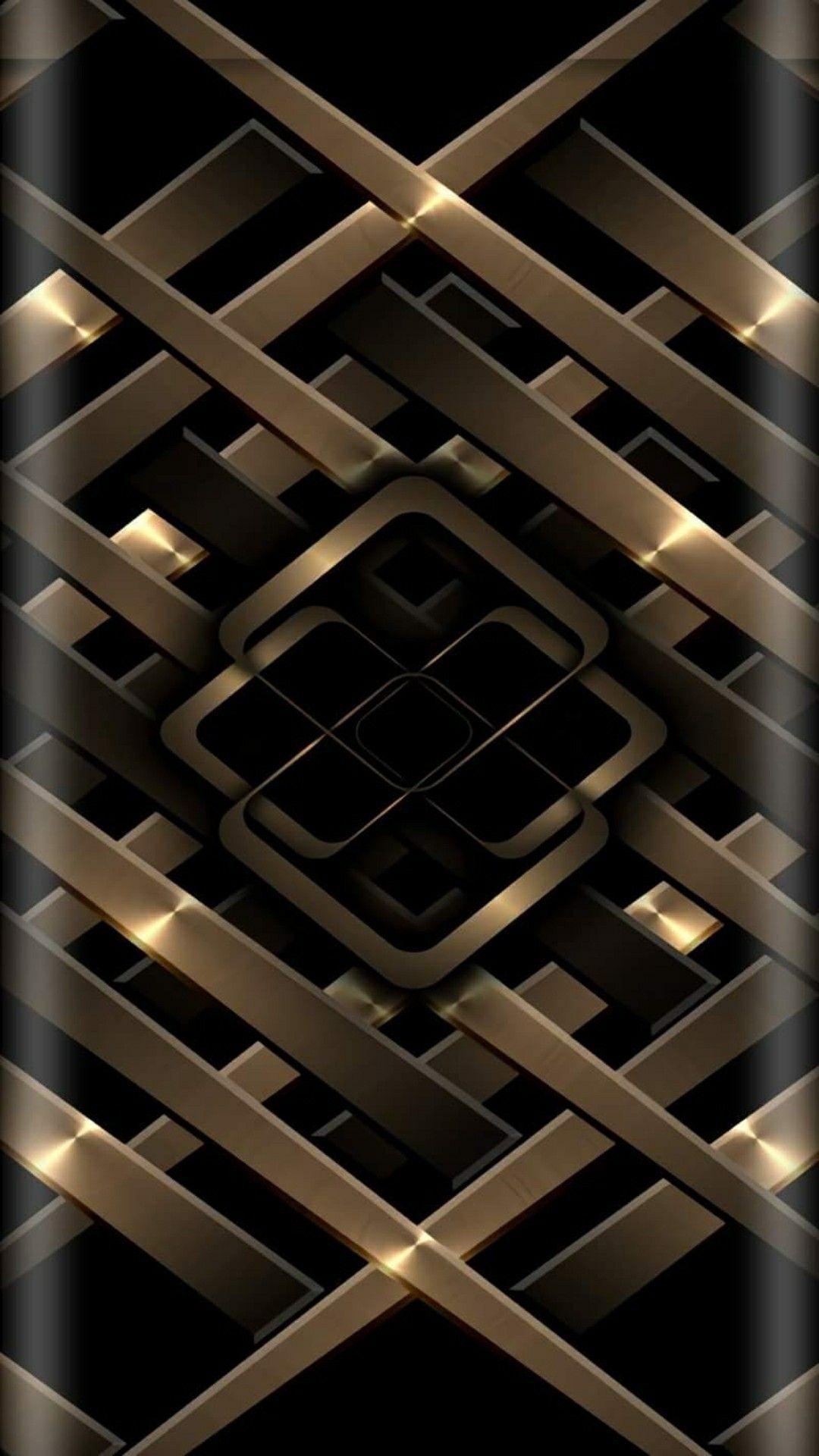 Metal Gold Black Iphone Wallpaper