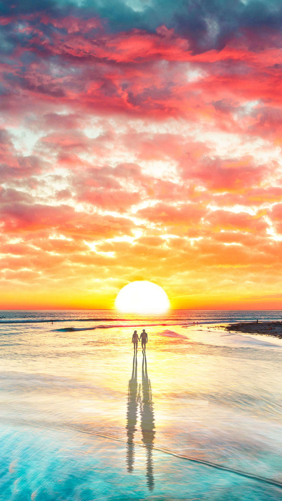 Sunset Beach Iphone Wallpaper