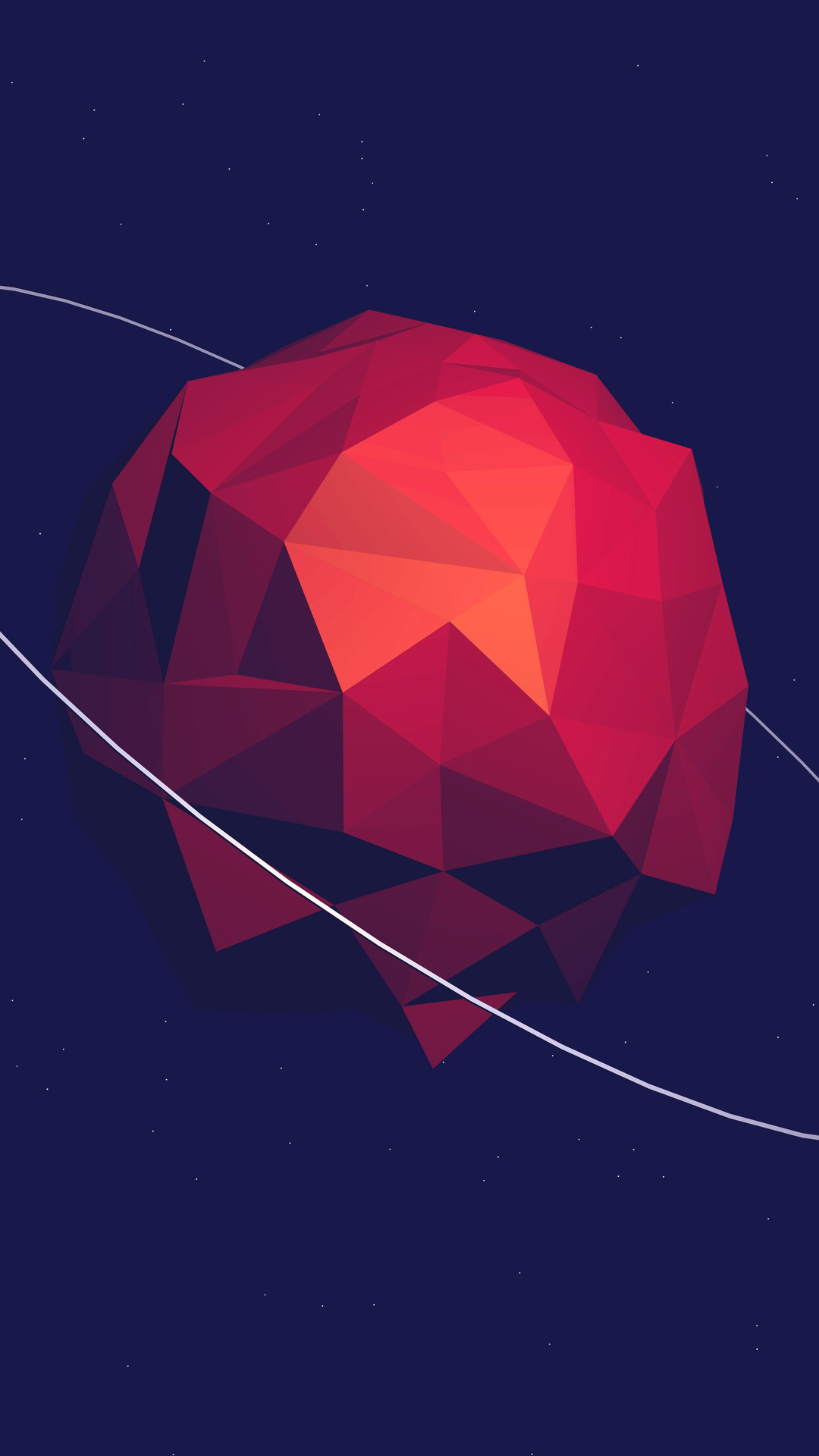 Low Poly Planet Iphone Wallpaper
