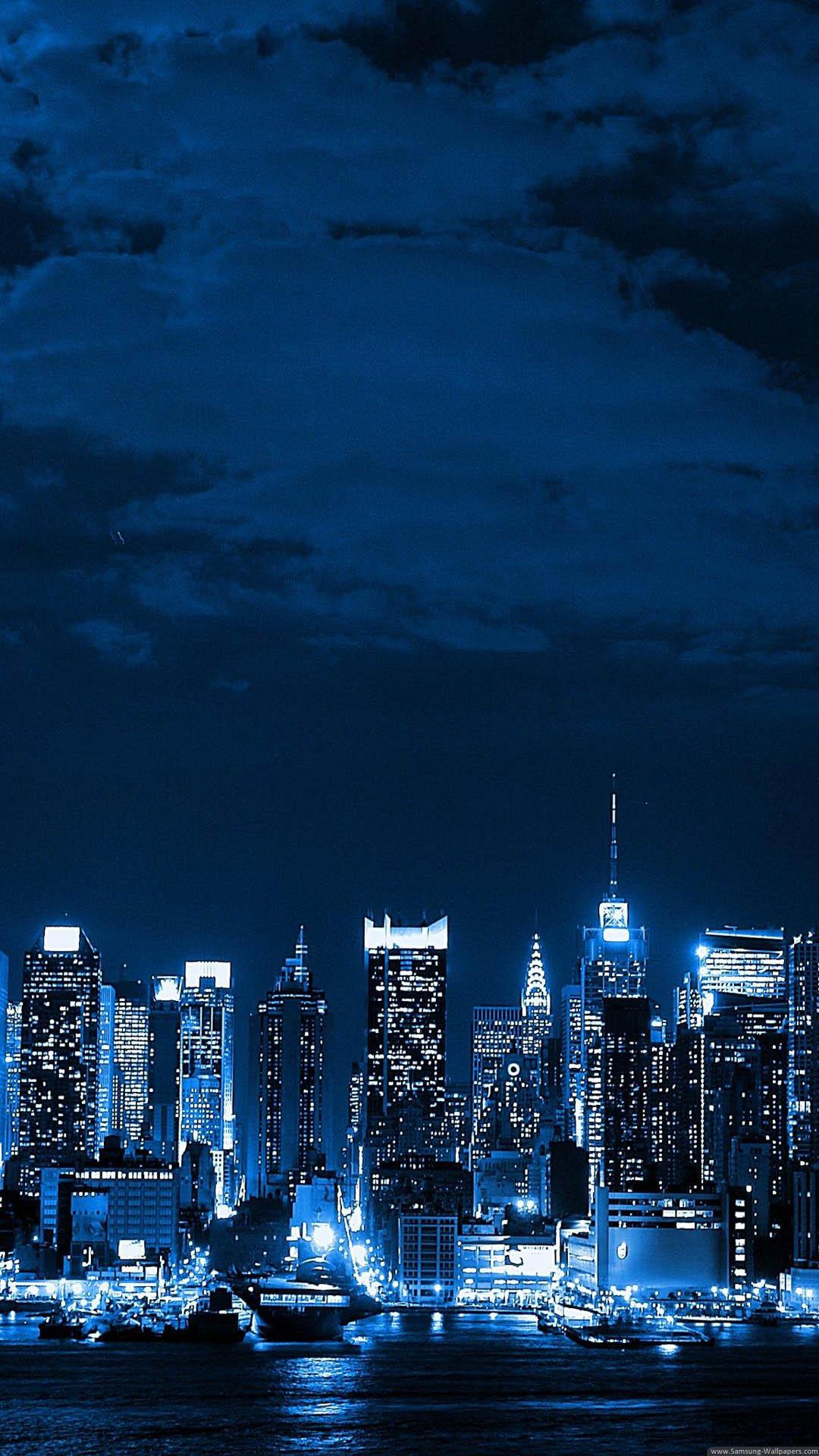 ビル街の夜景 Iphone6壁紙 Iphone Wallpapers