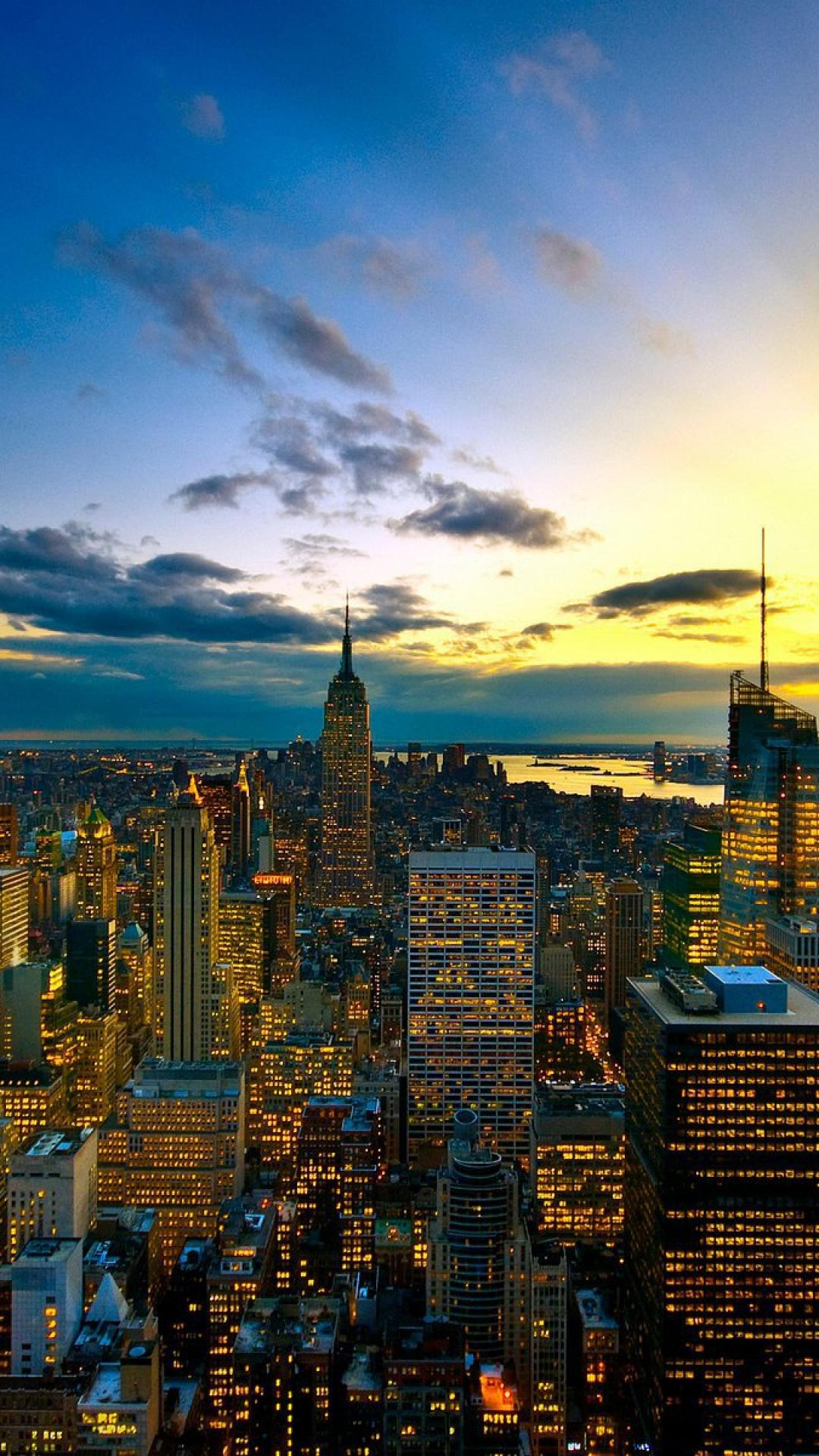 Night View Of New York Iphone Wallpapers