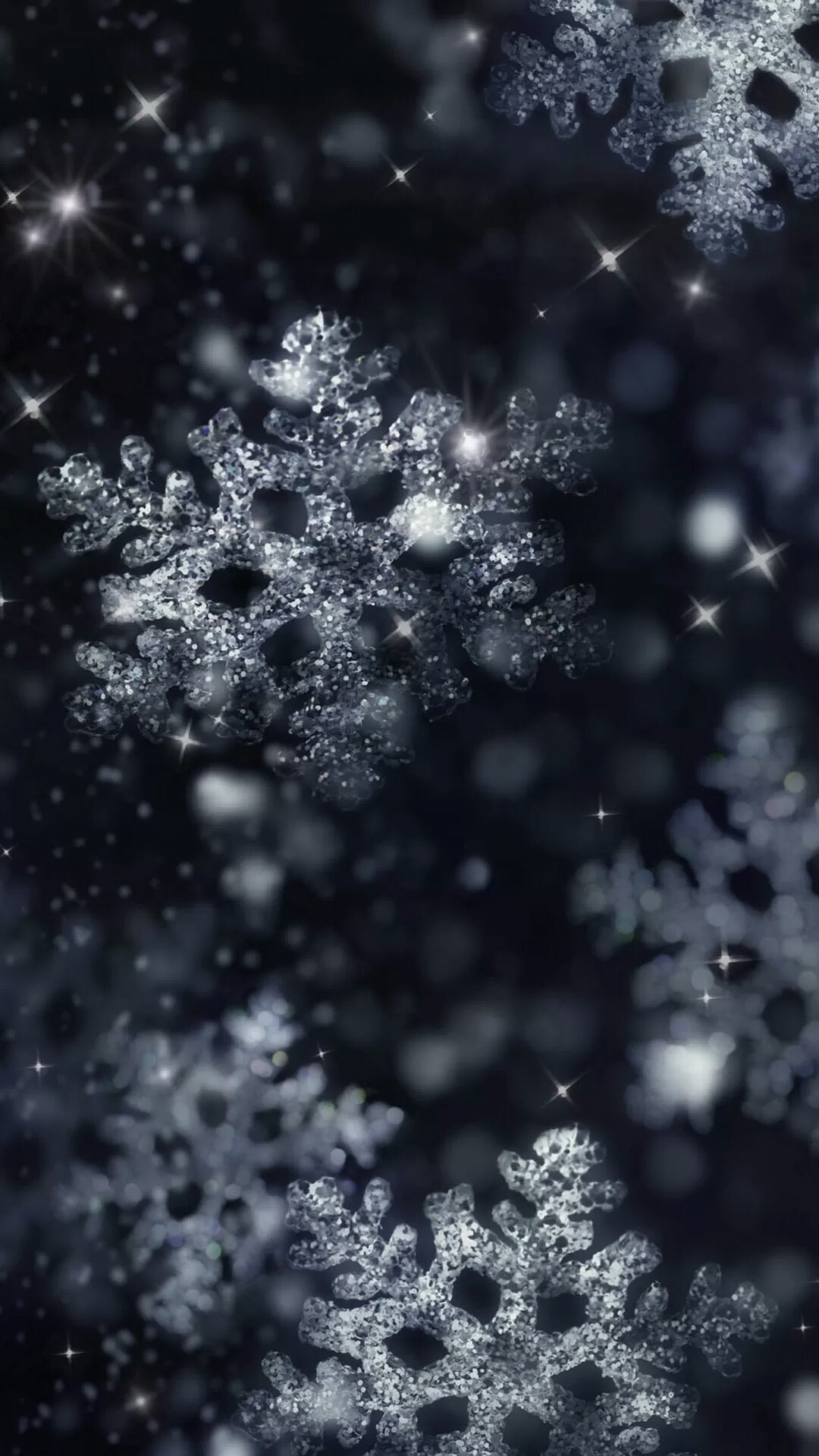 Snow Crystal Iphone Wallpaper