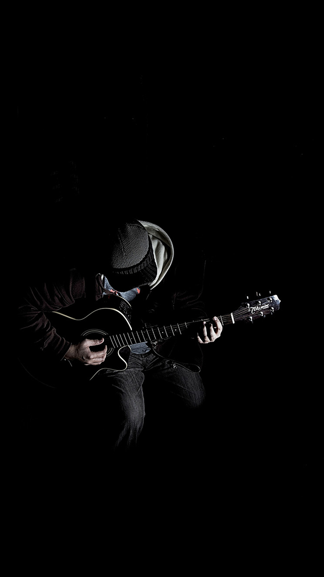Out The Dark Guitar Player Iphone Wallpaper