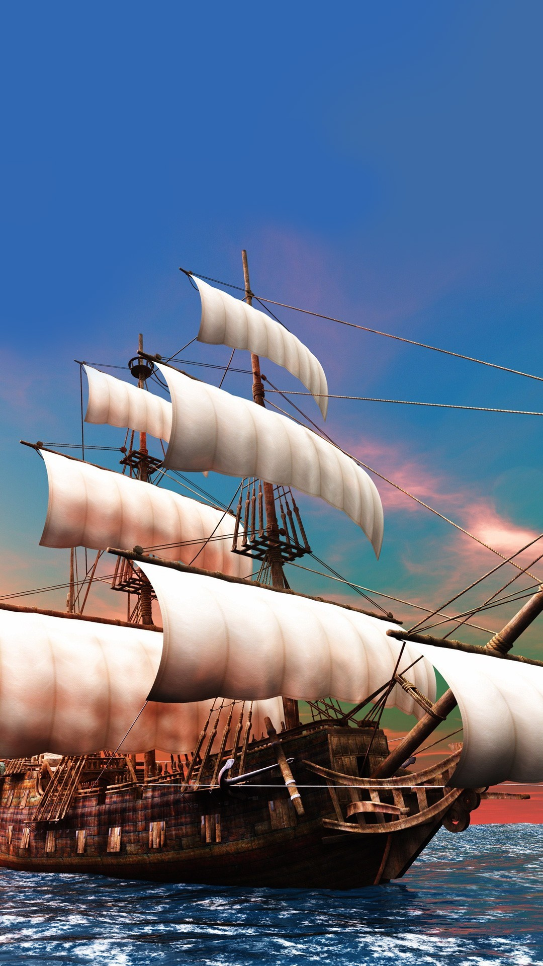 pirate ship | iphone wallpaper