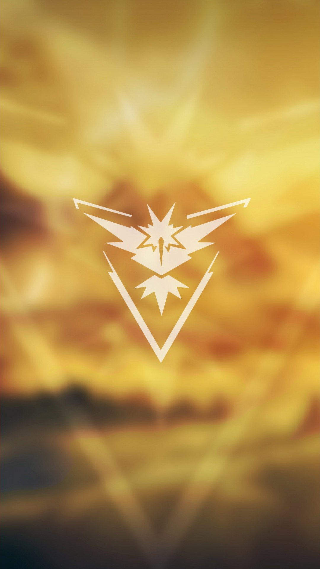 Team Instinct Pokemon Go Iphone Wallpaper