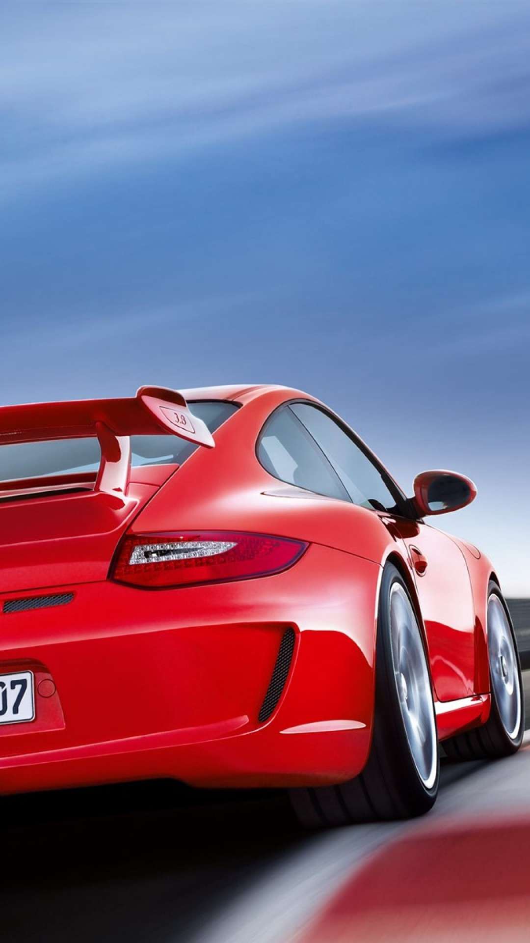 Red Porsche IPhone HD Wallpaper
