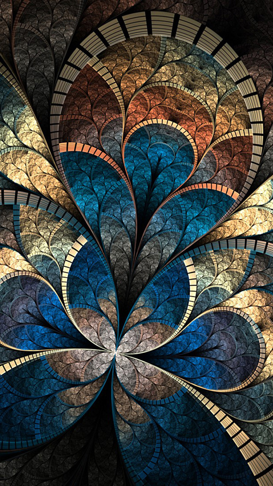 Retro Art Flower Abstract Iphone Wallpaper Iphone Wallpaper