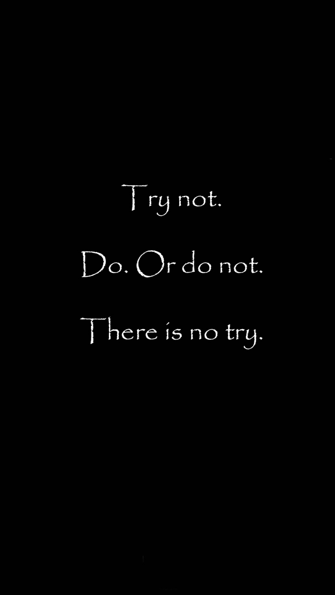 Try Not Do Or Do Not Star Wars Quote Iphone Wallpaper