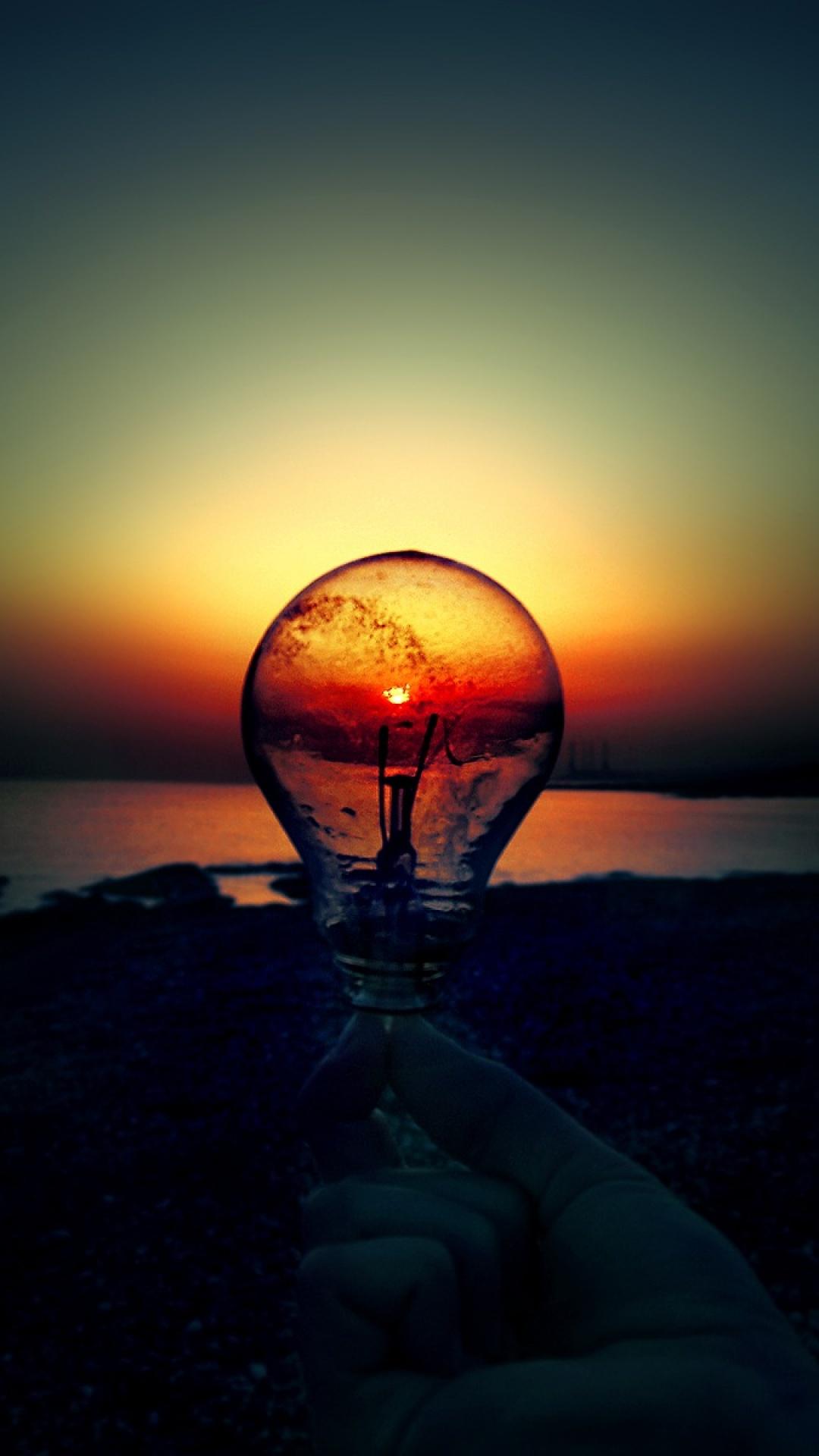 Light Bulb Art Iphone Wallpaper