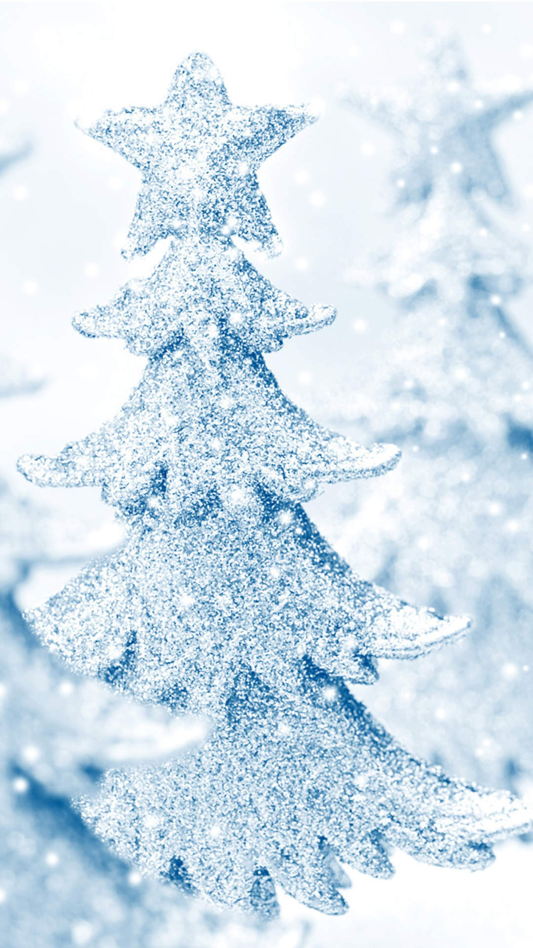 Snow Christmas Tree Iphone Wallpaper