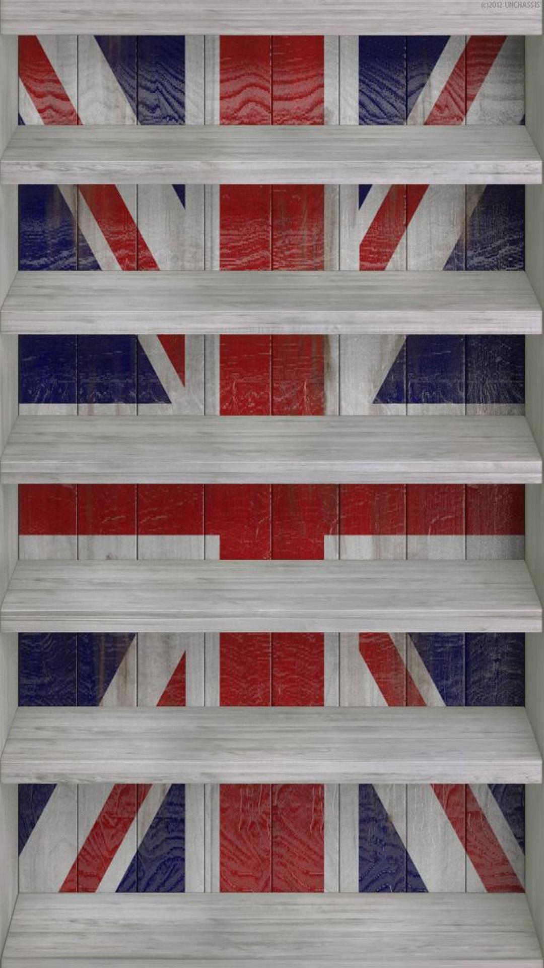 Union Jack Shelf Wallpapers Iphone Wallpaper