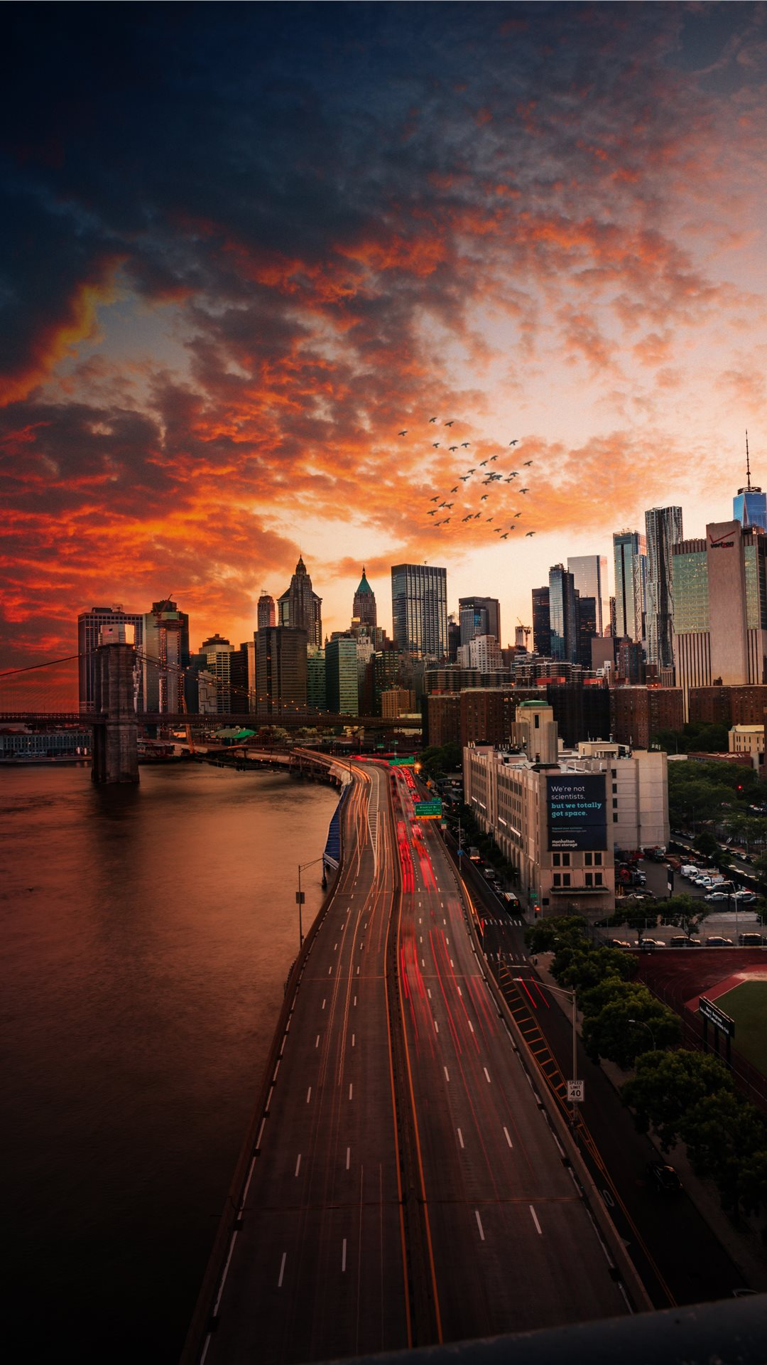 Manhattan Bridge Iphone Wallpaper