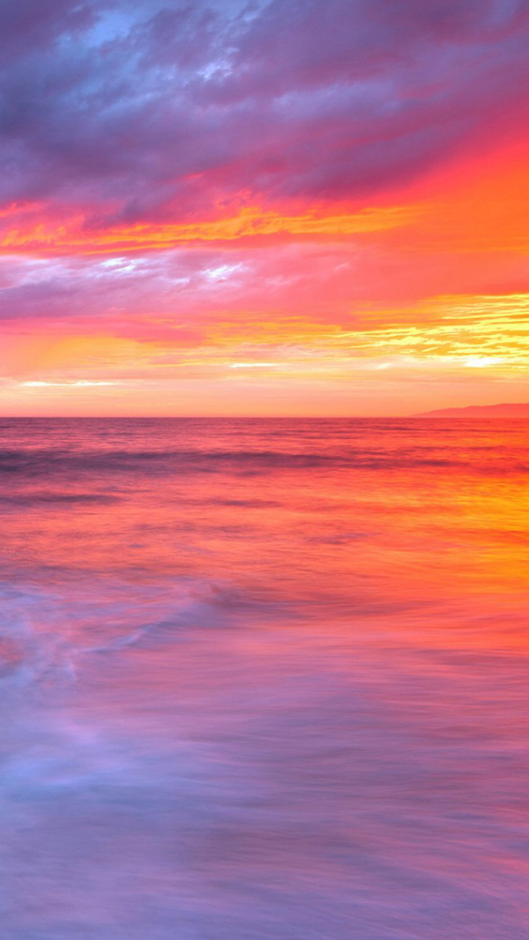 Fantastic Gradient Of The Sunset And Sea