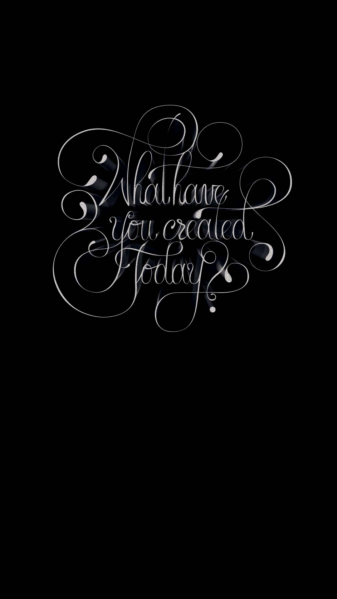 Typography Black Iphone Wallpapers
