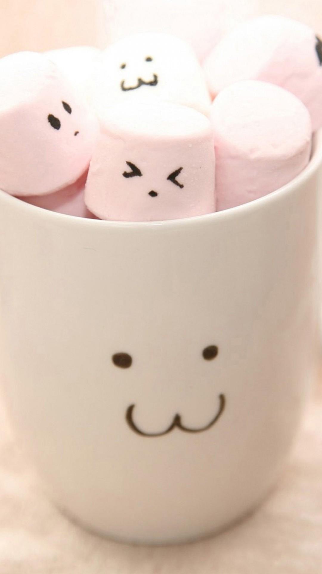 Cute Marshmallow Iphone Wallpaper