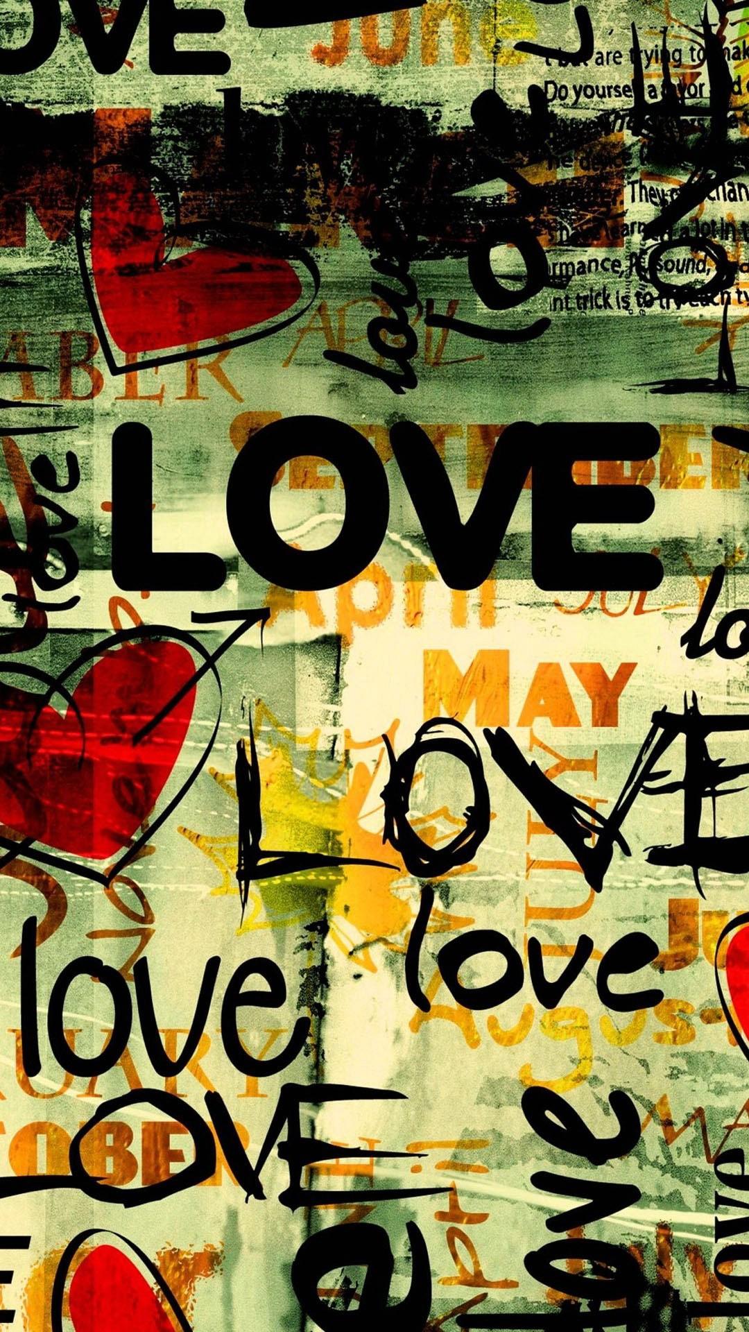 Love Typography Iphone Wallpaper